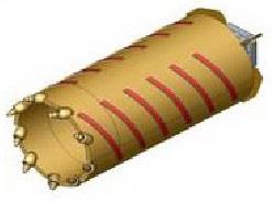 Вращательный буровой инструмент Колонковый бур KR-R-S/H Модель для бурения прочных скальных грунтов