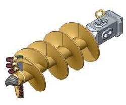 Модель для бурения легких грунтов Вращательный буровой инструмент Шнековый бур двухзаходный