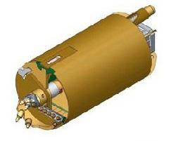 Вращательный буровой инструмент Колонковый бур Ковшебурый однозаходный