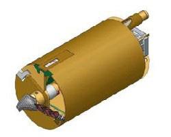 Вращательный буровой инструмент Колонковый бур Ковшебурый однозаходный Модель для бурения легких грунтов