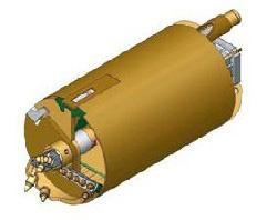 Вращательный буровой инструмент Колонковый бур Ковшебурый однозаходный Модель для бурения среднепрочных скальных грунтов