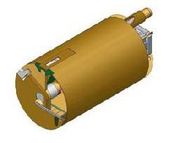 Вращательный буровой инструмент Колонковый бур Ковшебурый однозаходный Модель с чистящей планкой